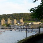 Walking into Conwy in the evening